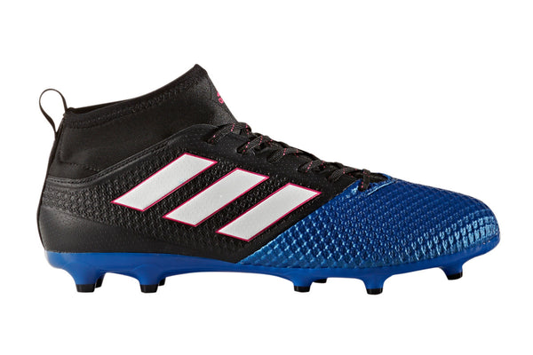 adidas ace 17.3 primemesh fg black white blue side