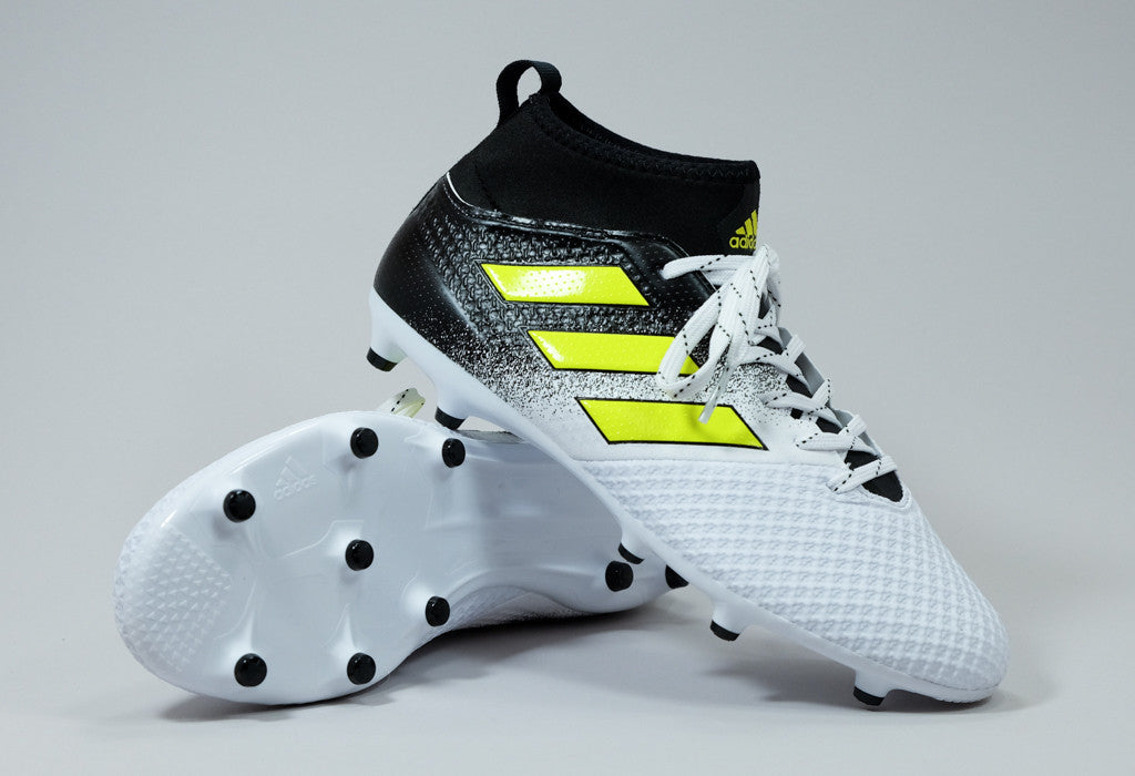 the best attitude 555dc af3a7 Adidas Ace 17.3 FG - White/ Yellow/ Black