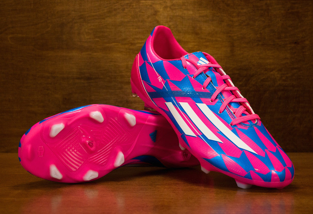 separation shoes 415c3 75677 Adidas F10 FG Neon Pink Solar Blue ...