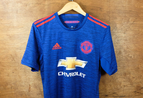adidas manchester united away jersey 2016 2017 blue red