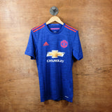 adidas manchester united away jersey 2016 2017 blue red front
