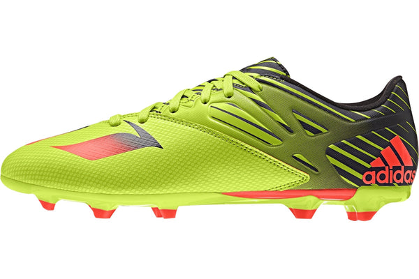 adidas messi 15.3 solar slime red black side