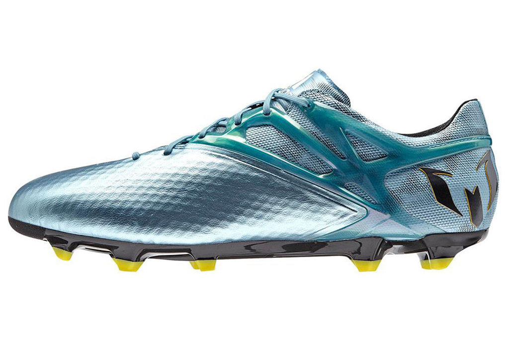 sports shoes 45cca 72c4b ... Adidas Messi 15.1 FG AG Ice Blue Yellow studs ...