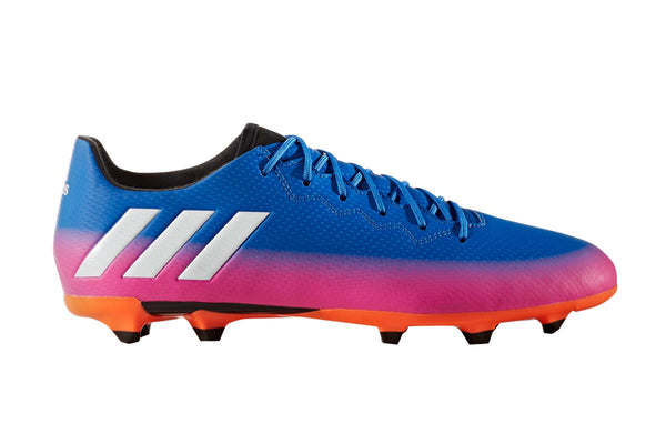 adidas messi 16.3 fg blue white orange pink side