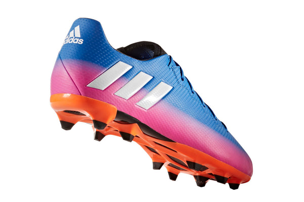 adidas messi 16.3 fg blue white orange pink heel
