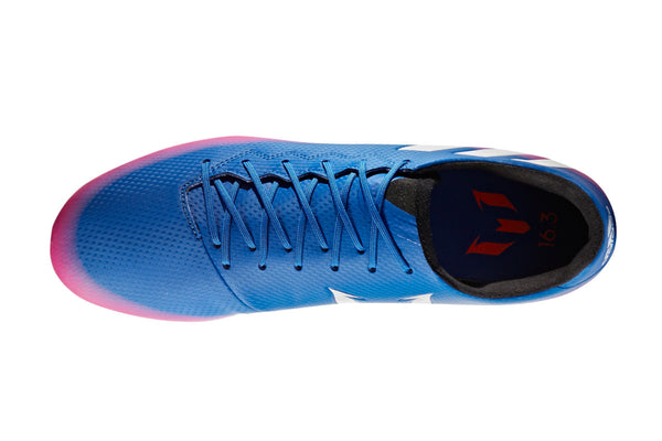 adidas messi 16.3 fg blue white orange pink laces