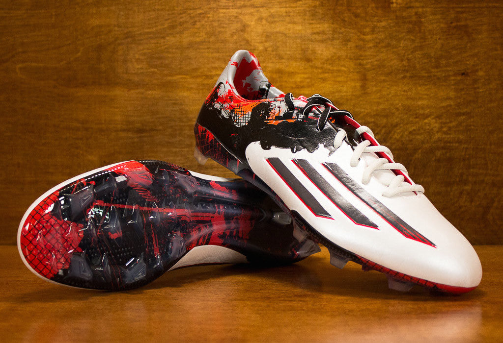 b99b25b16e4 Adidas Messi 10.1 FG - White  Black  Red