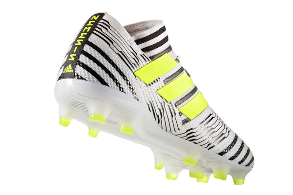 adidas nemziz 17.1 white black yellow heel