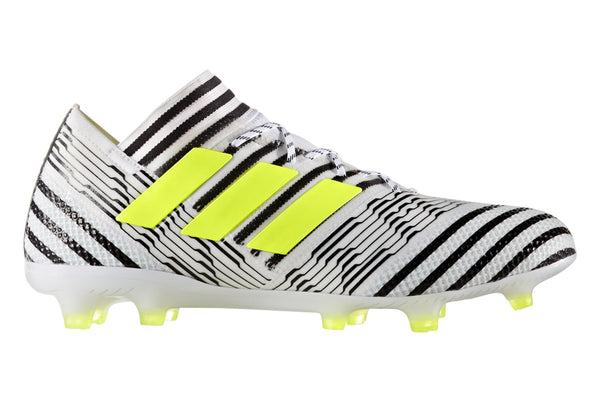 adidas nemziz 17.1 white black yellow side