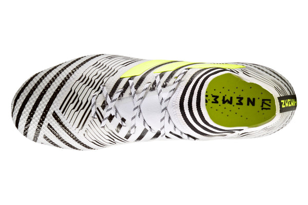 adidas nemziz 17.1 white black yellow laces