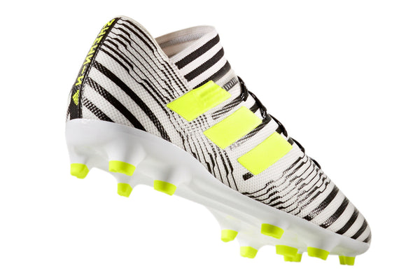 adidas 17.3 nemeziz white black yellow heel