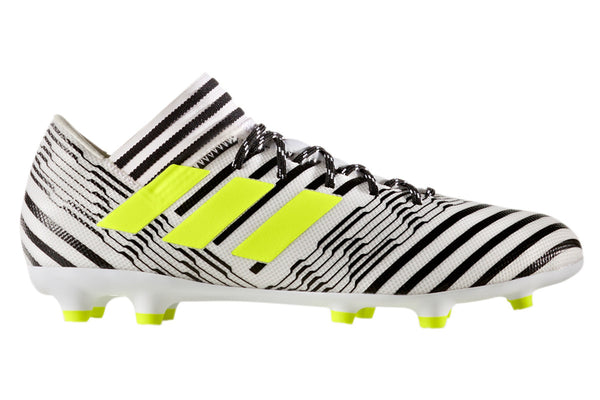 adidas 17.3 nemeziz white black yellow side