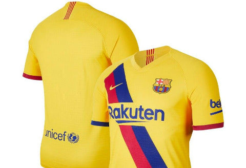 Nike Barcelona Away Youth Jersey 2019/20 - Varsity Maize