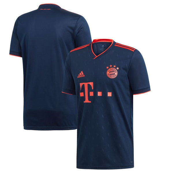 Adidas Bayern Third Jersey 2019/20 - Collegiate Navy / Bright Red