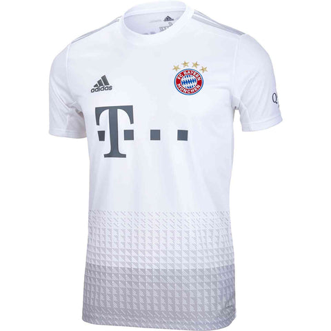 Adidas Bayern Munich Away Youth Jersey 2019/20 - White