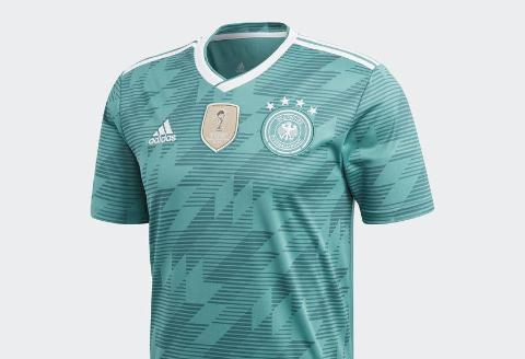 Adidas Germany Away Jersey 2018 - Teal/White