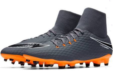 Nike Hypervenom Phantom 3 Academy DF FG - Dark Grey/ Total Orange/ White