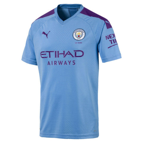 Puma Manchester City Home Youth Jersey 2019/20 - Light Blue/ Purple