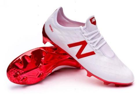 99db8a06aefa7 New Balance Furon 4.0 Pro FG - White/Red | East Coast Soccer Shop