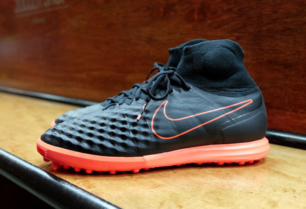 super popular 7ffa1 3330c Nike MagistaX Proximo II TF - Black  Hyper Orange   East Coast Soccer Shop