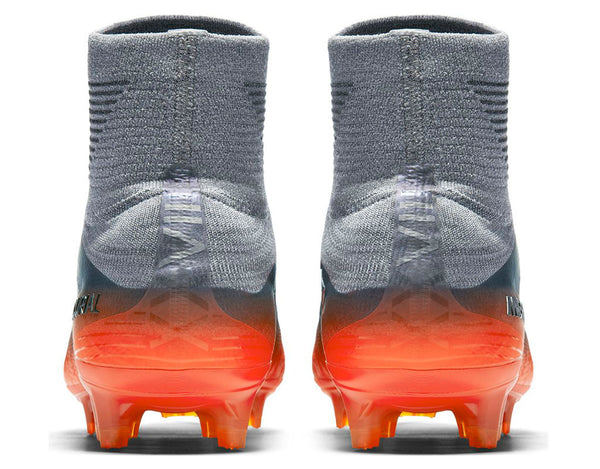 nike mercurial superfly 5 cr7 silver orange heel