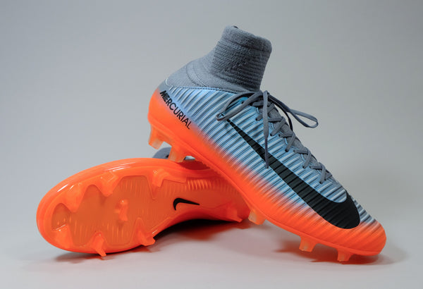 1ee23194 Nike Mercurial Veloce III DF CR7 FG - Silver/ Orange | East Coast Soccer  Shop
