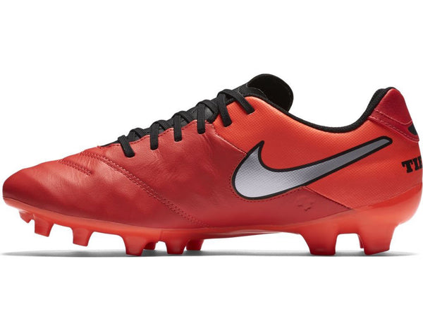 nike tiempo genio leather 2 crimson silver instep