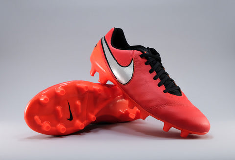 nike tiempo genio leather 2 crimson silver