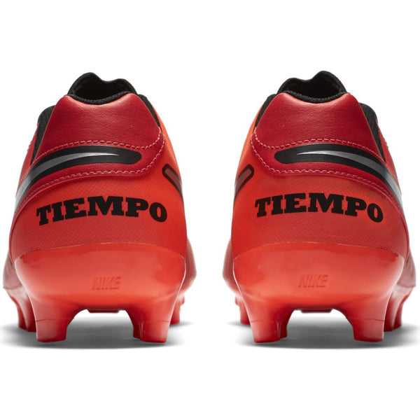nike tiempo genio leather 2 crimson silver heel