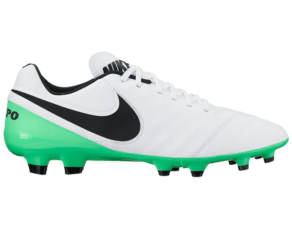 nike tiempo genio leather 2 white green side