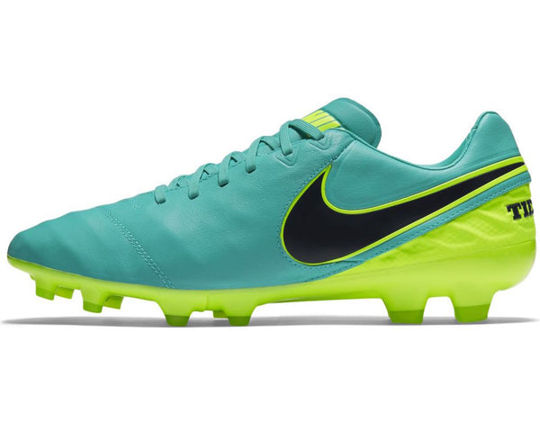 nike tiempo legacy 2 fg clear jade volt side