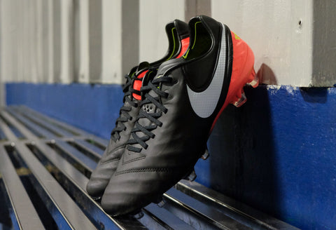 nike tiempo legend 6 black white orange