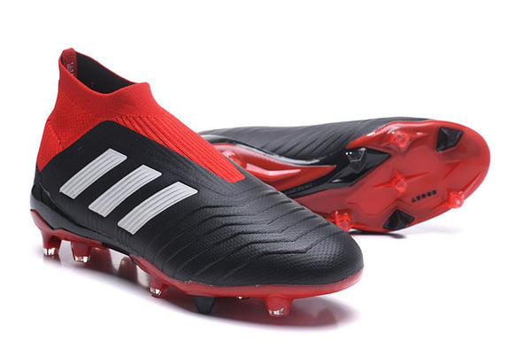 Adidas Predator 18+ FG - Core Black/ Cloud White/ Red