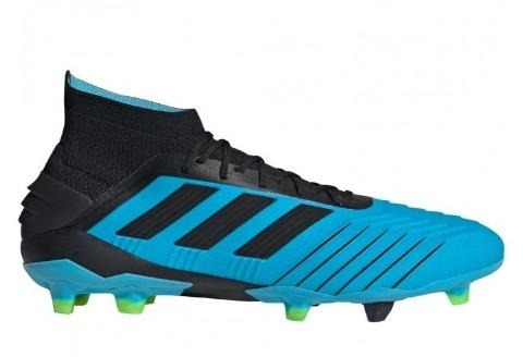 Adidas Predator 19.1 FG - Bright Cyan/ Core Black/ Solar Yellow