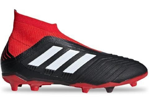 Adidas Predator 18+ FG J - Core Black/ Cloud White/ Red