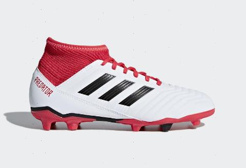 Adidas Predator 18.3 FG J - Running White/ Core Black/ Real Coral