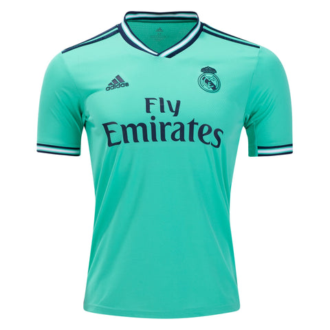Adidas Real Madrid Third Jersey 2019/20 - Hi-Res Green/ Night Indigo