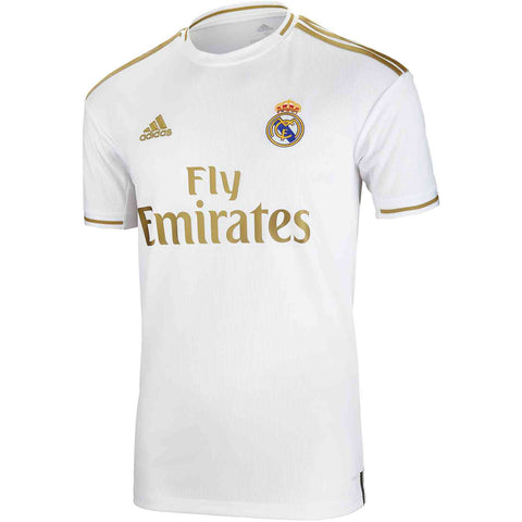 Adidas Real Madrid Home Youth Jersey 2019/20 - White/Gold