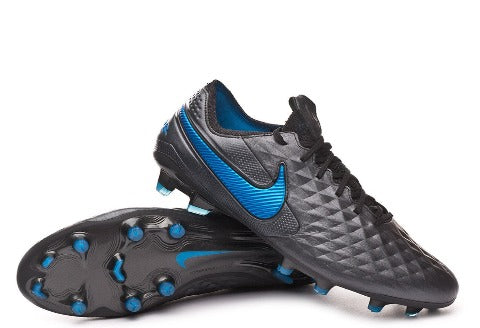 Nike Tiempo Legend 8 Elite FG - Black/Blue Hero/Black