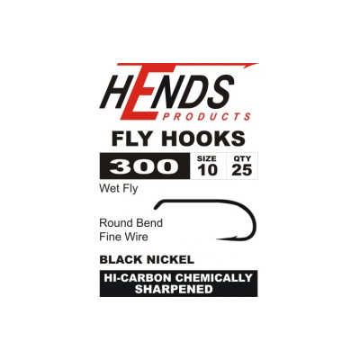 Hends 300 Wet Fly Hooks - Barbed