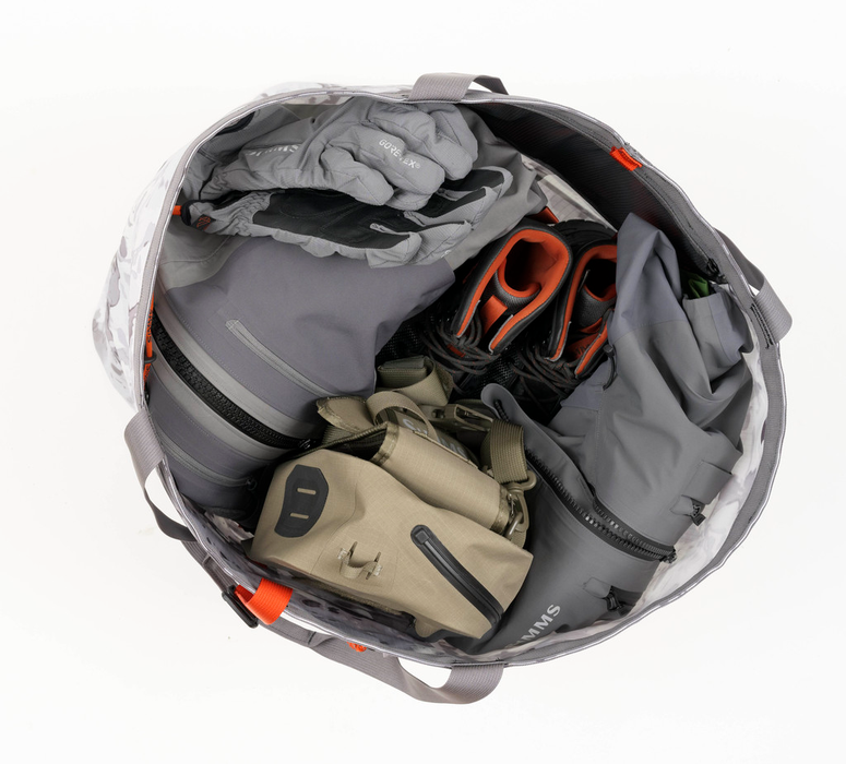 Simms Dry Creek Simple Tote - 50L Cloud Camo Grey