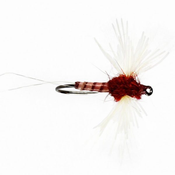 Rusty Spinner Winged Dry Barbless