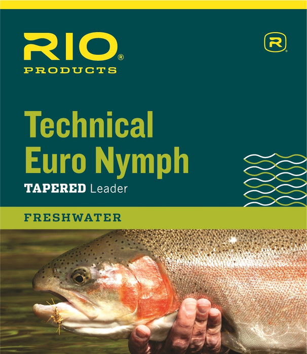 RIO Technical Euro Nymph Leader 14ft 2X/4X - NEW