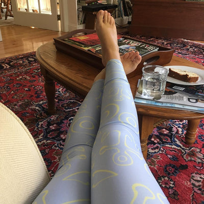Anchor Dream Leggings - Light Blue - SummerTies