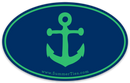 Anchor Sticker - Green on Navy - SummerTies