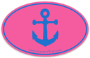 Anchor Sticker - Blue on Pink - SummerTies