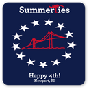 Newport Happy 4th Sticker - Red, White, and Blue - SummerTies