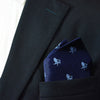 Adirondack Chair Pocket Square - Navy, Woven Silk - SummerTies  - 1
