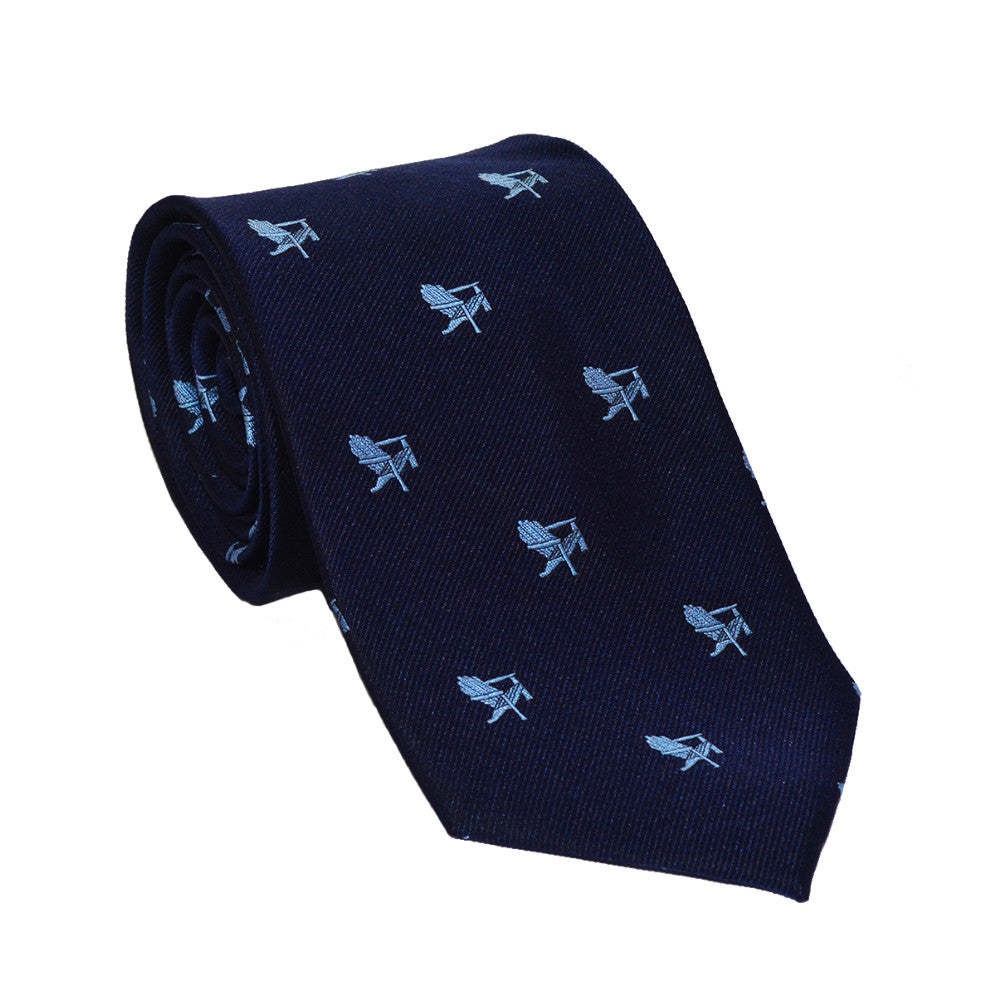 Adirondack Chair Necktie - Navy, Woven Silk - SummerTies