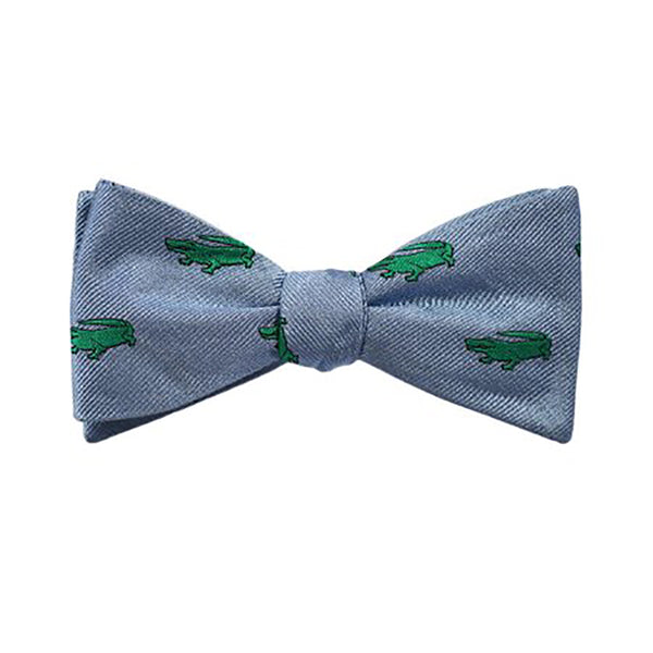 Alligator Bow Tie - Gray, Woven Silk - WHOLESALE - SummerTies